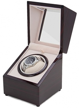 [100% Handgemacht] CHIYODA Uhrenbeweger für 1 Uhr Watch Winder mit Mabuchi Motor -