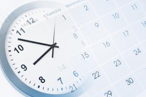 Die Atomuhr zeigt die aktuelle Uhrzeit!