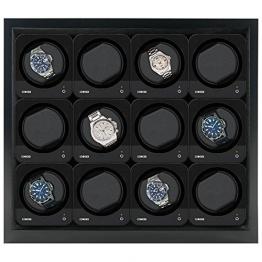 Beco Boxy HOUSE für Fancy Brick Uhrenbeweger - SCHWARZ - inkl. Grundplatte für die Stromspeisung von 1 bis 12 modularen Fancy Brick Uhrenbewegern dank Power Sharing Technologie - von Beco Technic -