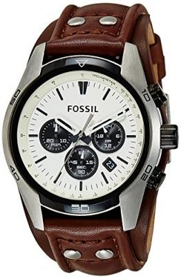 Fossil Coachman Herren Armbanduhr Sport Chronograph Leder braun CH2890 -