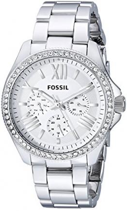 Fossil Damen-Armbanduhr Retro Traveler Analog Quarz Edelstahl AM4481 -