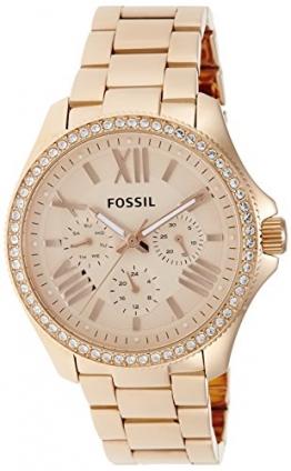Fossil Damen-Armbanduhr Retro Traveler Analog Quarz Edelstahl beschichtet AM4483 -