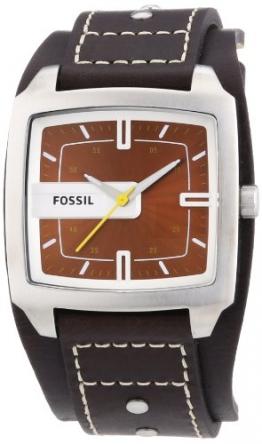 Fossil Herren-Armbanduhr Analog Leder braun Trend JR9990 -
