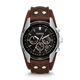 Fossil Herren-Armbanduhr XL Chronograph Quarz Leder CH2891 -