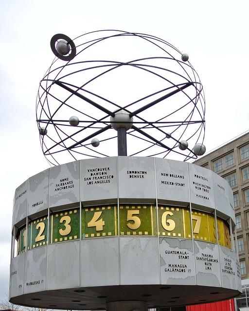 Weltzeituhr von Berlin