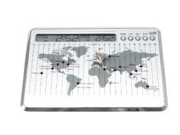 Brink World Weltzeituhr-Wecker mit Metallpin - 1