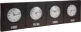 Wanduhr Weltuhr Weltzeituhr Bürouhr 4 Zeitzonen Metall 100 cm - 1